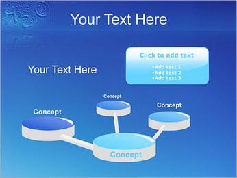 Gouttes d'eau H2O en forme Modèles des présentations  PowerPoint - Diapositives 9