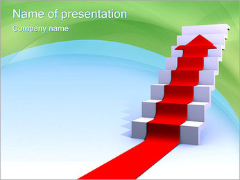 Stairs to Success PowerPoint Template