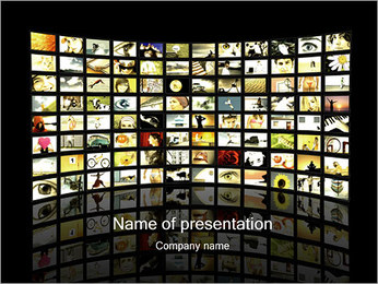TVs with Images PowerPoint Template