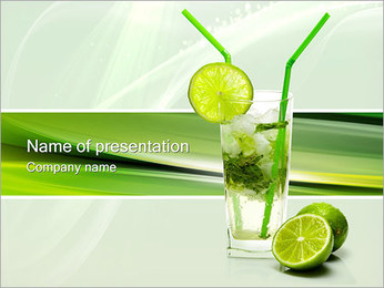 Mojito Cocktail PowerPoint Template