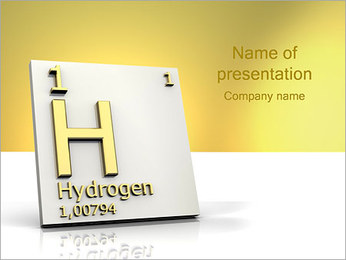Hydrogen H PowerPoint Template - Slide 1