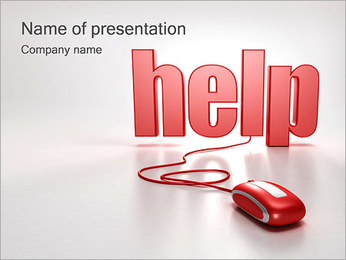Online Help PowerPoint Template