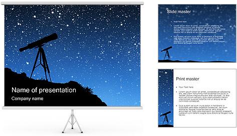 Télescope & Stars Modèles des présentations  PowerPoint