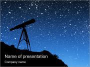 Telescope & Stars I pattern delle presentazioni del PowerPoint