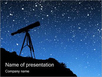 Telescópio & Estrelas Modelos de apresentações PowerPoint