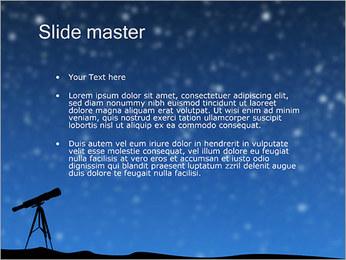 Telescopios y Estrellas Plantillas de Presentaciones PowerPoint