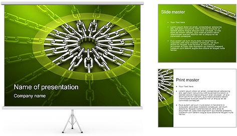 Chain Link Plantillas de Presentaciones PowerPoint