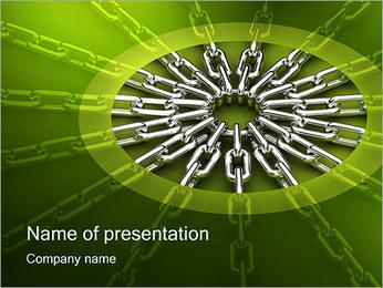 Chain Link Modèles des présentations  PowerPoint