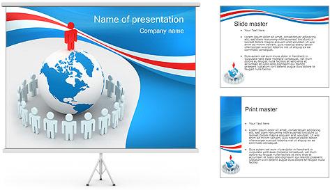 Pessoas em todo o mundo Modelos de apresentações PowerPoint