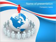 People Around the World Sjablonen PowerPoint presentaties