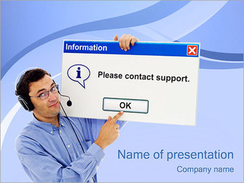 Contact Support PowerPoint Template