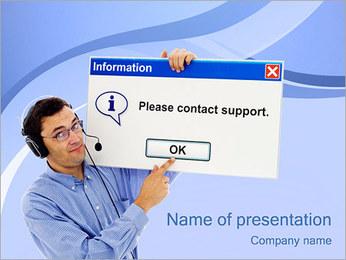 Kontakta Support PowerPoint presentationsmallar