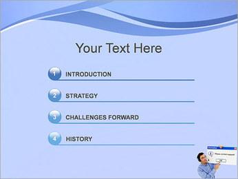 Contactar al Soporte Plantillas de Presentaciones PowerPoint - Diapositiva 3