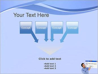 Contactar al Soporte Plantillas de Presentaciones PowerPoint - Diapositiva 8