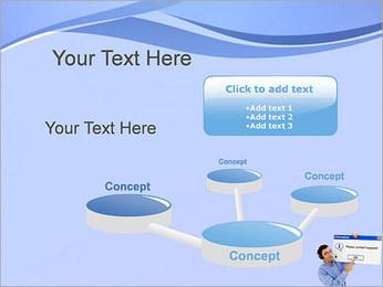 Contactar al Soporte Plantillas de Presentaciones PowerPoint - Diapositiva 9