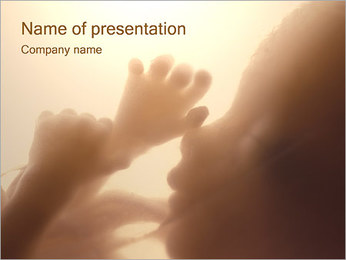 Human Fetus PowerPoint Template - Slide 1