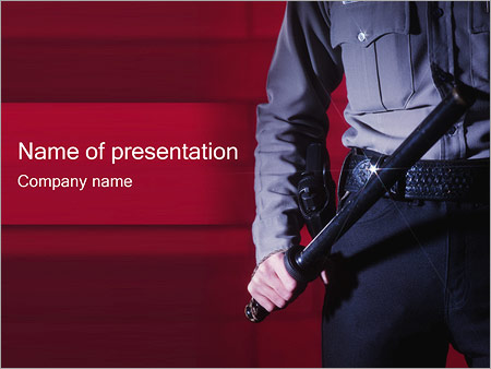 police powerpoint template smiletemplates com