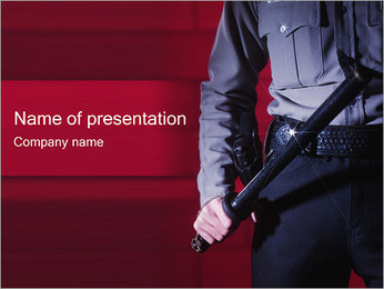 Police Officer PowerPoint Template