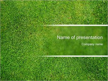 Fresh Lawn Grass PowerPoint Template