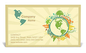 Environmental business card template design id 0000001027 environmental business card template colourmoves Images