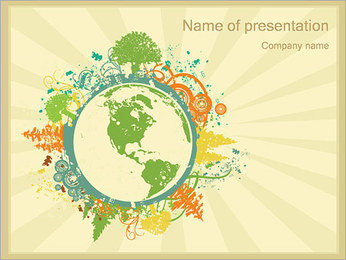 Ambientale I pattern delle presentazioni del PowerPoint