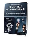 Botão Touchscreen Folhetos de apresentação