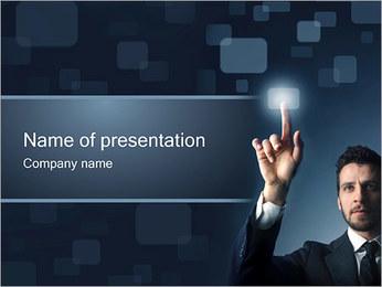 Botão Touchscreen Modelos de apresentações PowerPoint