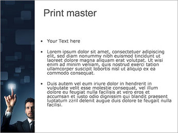 Botón de pantalla táctil Plantillas de Presentaciones PowerPoint