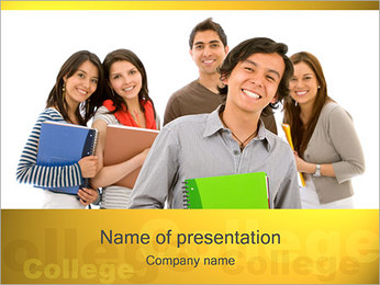 College Students PowerPoint Template