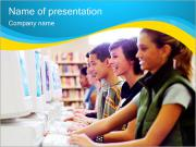 Computer klass PowerPoint presentationsmallar
