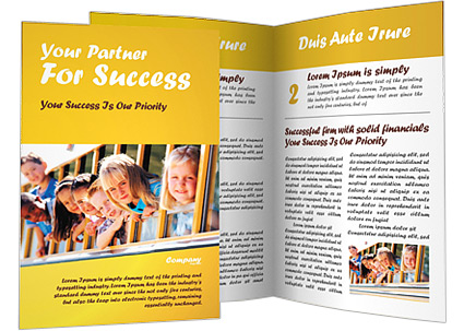 Kids In School Bus Brochure Template Design ID - School brochures templates
