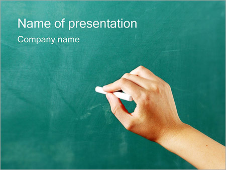 Writing on Chalkboard PowerPoint Template