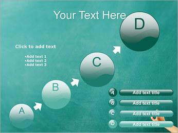 Writing on Chalkboard PowerPoint Template - Slide 15
