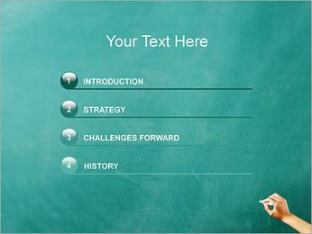 Запись на доске Шаблоны презентаций PowerPoint - Слайд 3