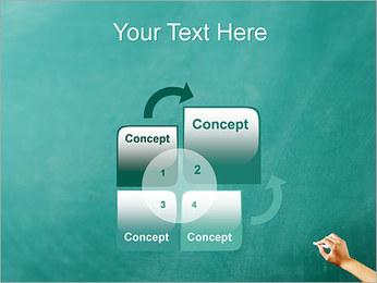 Writing on Chalkboard PowerPoint Template - Slide 5
