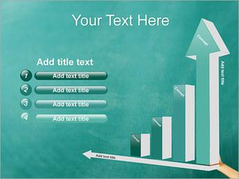 Writing on Chalkboard PowerPoint Template - Slide 6