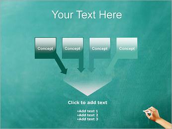 Writing on Chalkboard PowerPoint Template - Slide 8