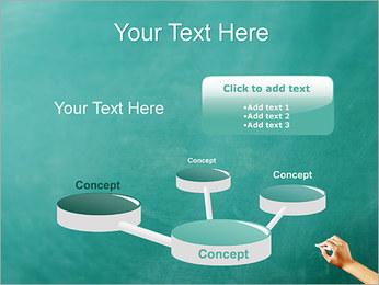 Writing on Chalkboard PowerPoint Template - Slide 9