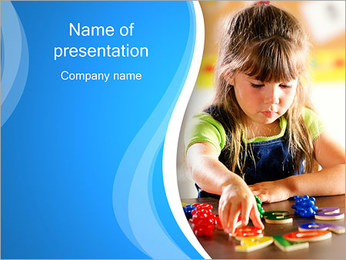 Petite fille Modèles des présentations  PowerPoint