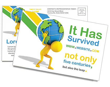 Carrying the Earth Postcard Template