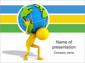 Carrying the Earth PowerPoint Template
