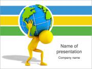 Carrying the Earth PowerPoint Templates