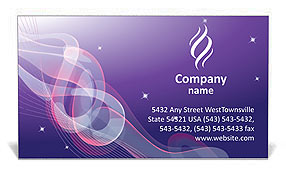 Abstract Design Business Card Template