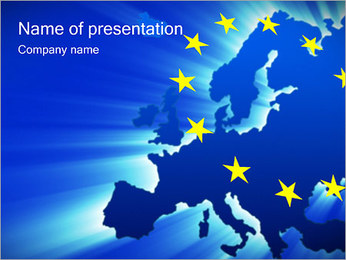 Map of European Union PowerPoint Template