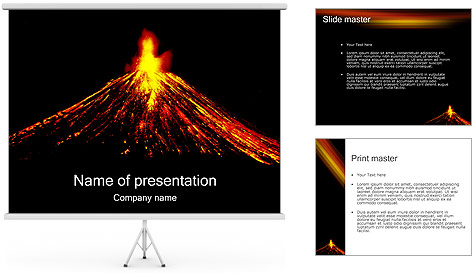 Volcan Modèles des présentations  PowerPoint