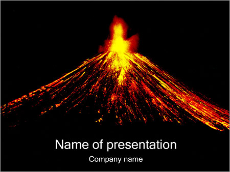 volcano powerpoint template  backgrounds id, Powerpoint