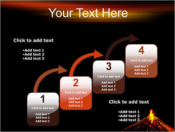 Volcan Modèles des présentations  PowerPoint - Diapositives 20