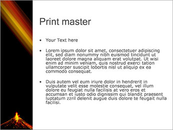 Volcan Modèles des présentations  PowerPoint - Diapositives 24