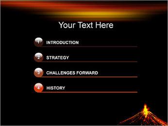 Volcan Modèles des présentations  PowerPoint - Diapositives 3