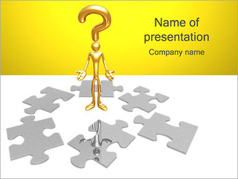 Puzzle Question PowerPoint Template